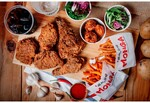 6 Piece Combo Meal for 2 Pax Taiwanese Fried Chicken Monga for $20.90 (UP $36.10) at Shopee
