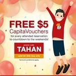Bonus $5 CapitaVoucher with Every Reservation Booked at Eatigo