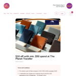 $10 off with Min. $50 Spend at The Planet Traveller