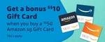 [Prime] Get a Bonus $10 Gift Card When You Buy a $50 Gift Card at Amazon SG