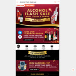 $10/$15/$28/$70 off ($100/$150/$280/$688 Min Spend) on Alcohol at Shopee [Alcohol VIP Users]