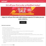 $11 off First Order at Redmart ($70 Minimum Spend)