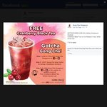 Free Cranberry Black Tea from Gong Cha (Cathay Cineleisure Orchard) (Facebook Like/Instagram Follow Required)