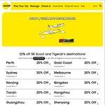 20% Off Scoot & TigerAir Flights Via Scoot (UOB Cardholders)