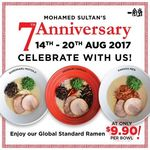 $9.90++ for Shiro, Aka or Karaka Ramen @ Ippudo Mohamed Sultan Outlet 14-20 August