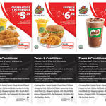 Texas Chicken Coupons - 3pc Tenders Combo: $5.30, Crunch Box: $6.80, Regular Iced Milo: $1.50