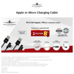 Apple or Micro-USB Charging Cable $8 Delivered @ Pilot Instruments