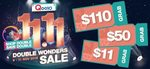 Qoo10 Singles' Day Coupons - $11 off When You Spend $50, $50 off When You Spend $300 and $110 off When You Spend $800