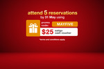 $25 Eatigo Cash Voucher upon attending 5 Reservations via Eatigo