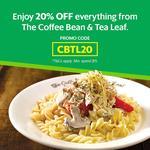 20% off ($15 Min Spend) at The Coffee Bean & Tea Leaf via GrabFood