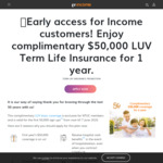 Free Luv NTUC Income Insurance coverage for first 50,000 NTUC Union Members