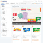 Free Towel Gift Set with $15 Min SPend on Participating Marigold Products at FairPrice On