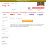 $10 off ($200 Min Spend) at Pupsik