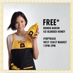 Free Bienen Baron Ice-Blended Honey/Limited Edtion Roosters/Chips from ASM Global (West Coast Market)