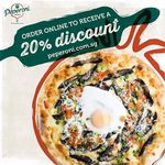 20% Off Pizzas at Peperoni (Online Orders) (Min Spend $20)