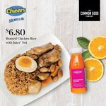 Braised Chicken Rice with Juice Set for $6.80 at Cheers