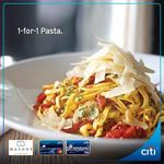 1-for-1 Pasta at Masons (Citi Card Holders)
