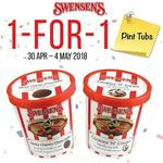 1 for 1 Ice Cream Pint Tubs at Swensen's via App (Monday 30th April to Friday 4th May)