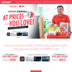 $20 off $100 [New Customers], $10 off $120 [Existing Customers] at Redmart [Payment by DBS/POSB Cards Only]