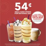 $0.54 Small Sized Drinks at The Coffee Bean & Tea Leaf (9th August, 12pm to 12.54pm)
