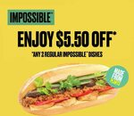 $5.50 off with Purchase of 2 Regular Namnam Impossible Dishes (U.P. $31.80) at NamNam Noodle Bar