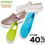 Crocs - 40% off 2nd Pair of Footwear (Full Priced Only) [VivoCity]
