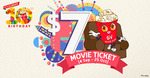 $7 Movie Tickets on Mondays, Wednesdays and Thursdays at Golden Village (GV Members/Selected Cinemas)