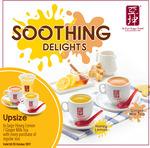 Free Upsize to Large Honey Lemon/Ginger Milk Tea at Ya Kun Kaya Toast