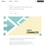 30% off All Uber Commute Rides