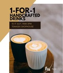 1 for 1 Coffee at Foreword Coffee