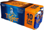 Tiger Beer 10sX320ml  for $18.95 (U.P. $24.95) from Cold Storage
