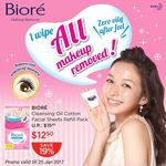 Win 1 of 10 Sets of Biore Cleansing Oil Cotton Facial Sheets Refill Packs from Watsons