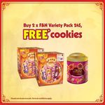 Buy 2 x F&N Variety Pack 24S and Receive Free Cookies at FairPrice, Cold Storage, Sheng Siong, Giant, Prime