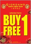 Buy 1, Get 1 Free (Selected Items) at Giordano