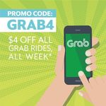 $4 off All Grab Rides (10am to 5pm Daily)