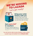 Earn Up to $25 in Vouchers to Use at RedMart on Lazada (Opt In Required)