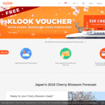 Bonus $20 Voucher (for Japan Activities)  with Every Whole JR Pass Purchase (from $365.29) via Klook