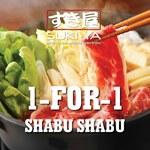 1 for 1 Shabu Shabu at SUKI-YA (Mondays to Thursdays, Regular Buffet, Lunch Only) [Maybank Cards]