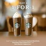 1 for 1 Selected Venti-Sized Drinks at Starbucks (Starbucks Cardholders)