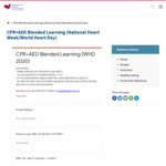Free CPR & AED Certification Course from Singapore Heart Foundation