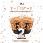 1 for 1 Brown Sugar Boba Milk Drinks at Xing Fu Tang