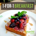 1 for 1 Breakfast at Marché Mövenpick (Weekdays, 9am to 11am)