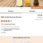 Free Bottle of Herbal Tea from Oriental Herbal Tea via Lobang King Club App