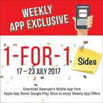1 for 1 Sides at Swensen's (Monday 17th to Sunday 23rd July)