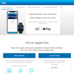 Earn 20x Points (8mpd) Uncapped Using Apple Pay with Citibank Ultima, Citibank Prestige and Citibank Rewards Cards