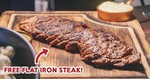Free Flat Iron Steak Worth $21++ on 2 March 2019 at The Feather Blade (Club Street)