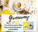 Win 1x Hook Coffee French Press and 200g of Sweet Bundchen Coffee (worth S$63) from Cardable