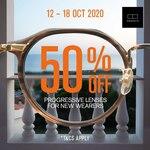 50% off Progressive Lenses at OWNDAYS