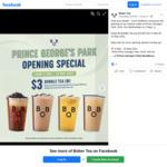 Medium Bubble Tea for $3 (U.P. $3.80) at Bober Tea (Prince George's Park, NUS)