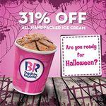 31% off All Handpacked Ice Cream at Baskin Robbins